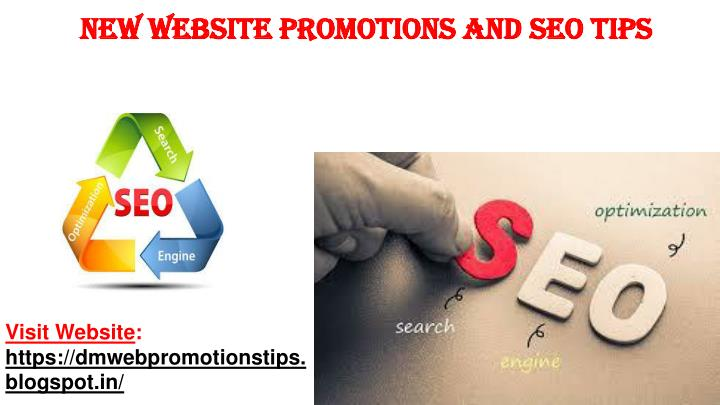 new website promotions and seo tips n.