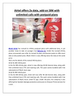 airtel offers 2x data add on sim with unlimited