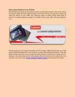 adjust laptop settings at screen off mode
