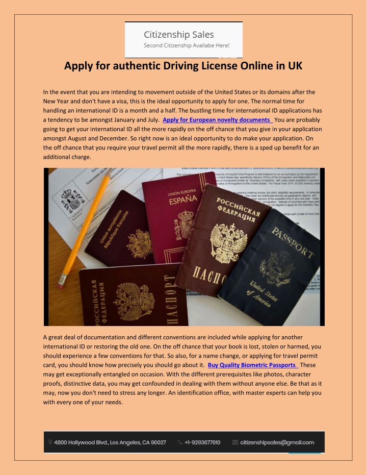 apply for authentic driving license online in uk n.