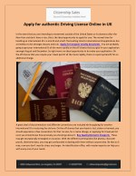 apply for authentic driving license online in uk