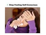 stop feeling self conscious