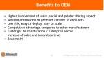 benefits to oem