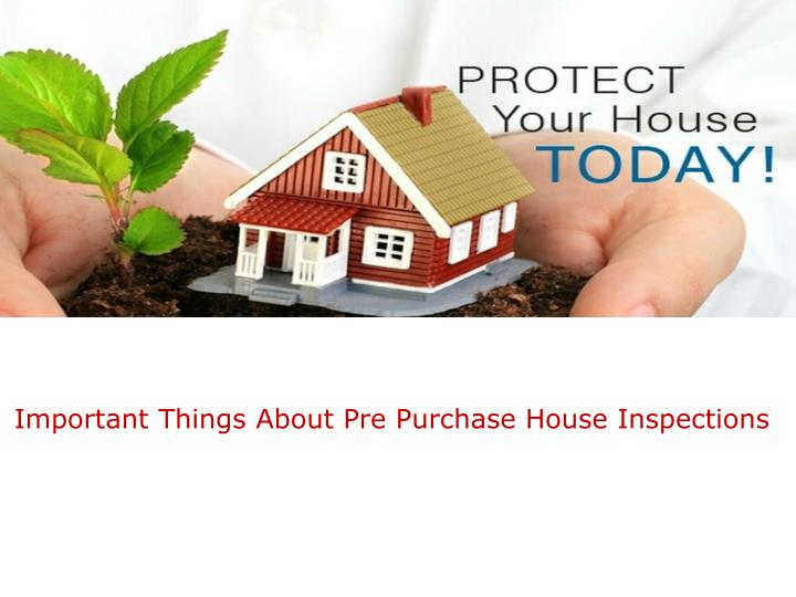 important things about pre purchase house n.