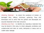 roofing materials to check the existence