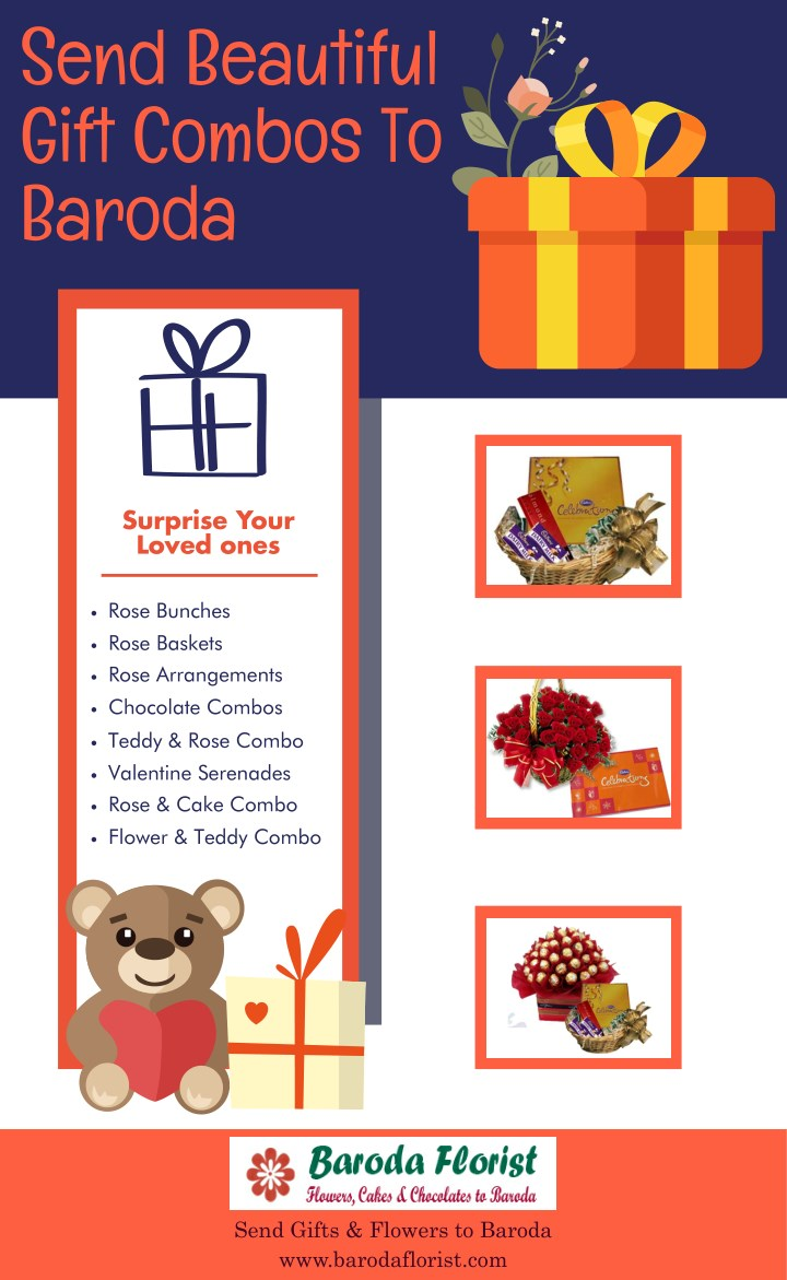 send beautiful gift combos to baroda n.