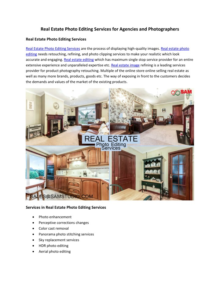 real estate photo editing services for agencies n.