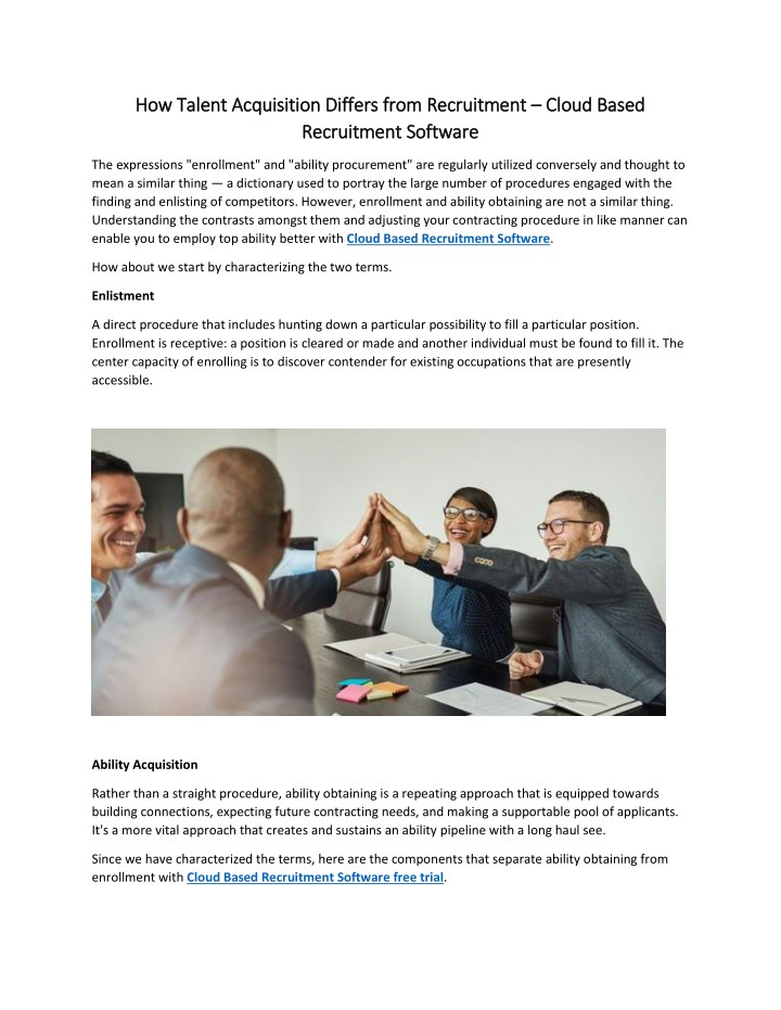 how talent acquisition differs from recruitment n.
