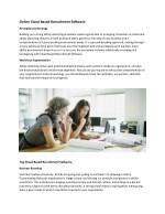 online cloud based recruitment software