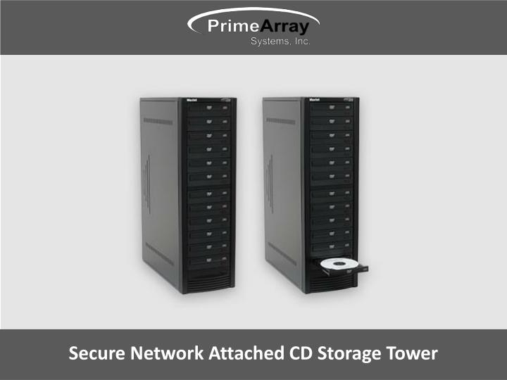 secure network attached cd storage tower n.