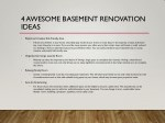 4 awesome basement renovation ideas