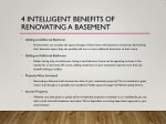4 intelligent benefits of renovating a basement