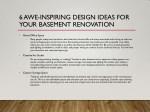 6 awe inspiring design ideas for your basement 1