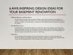 6 awe inspiring design ideas for your basement