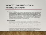 how to warm and cool a finished basement