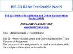 bis 221 rank predictable world 11