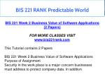 bis 221 rank predictable world 4