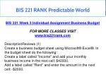 bis 221 rank predictable world 8