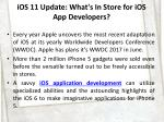 ios 11 update what s in store for ios app developers 2