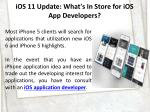ios 11 update what s in store for ios app developers 3
