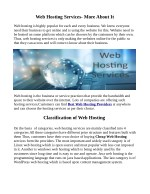 web hosting services more about it
