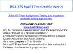bsa 375 mart predictable world 5