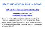 bsa 375 homework predictable world 14