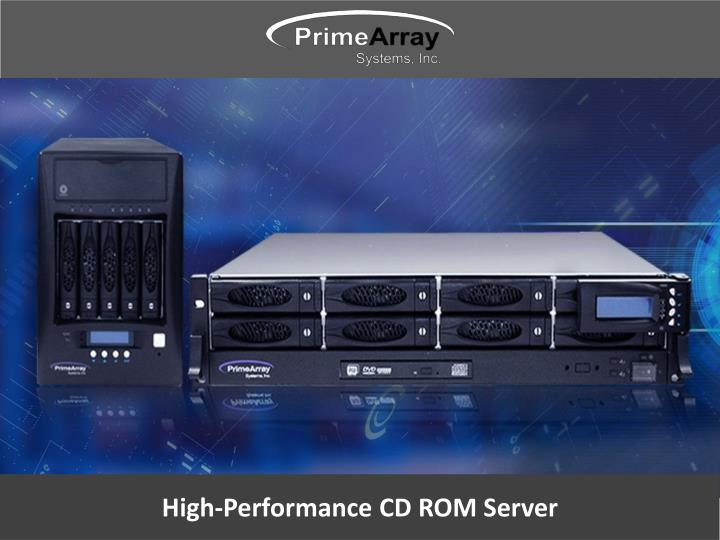 high performance cd rom server n.