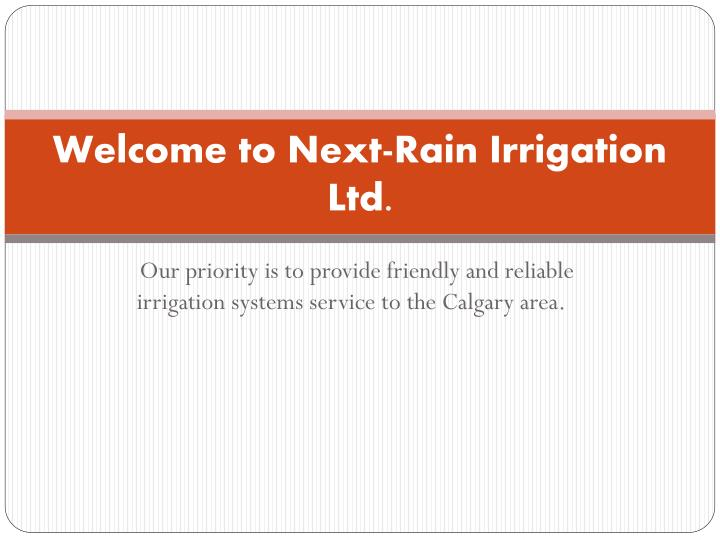 welcome to next rain irrigation ltd n.