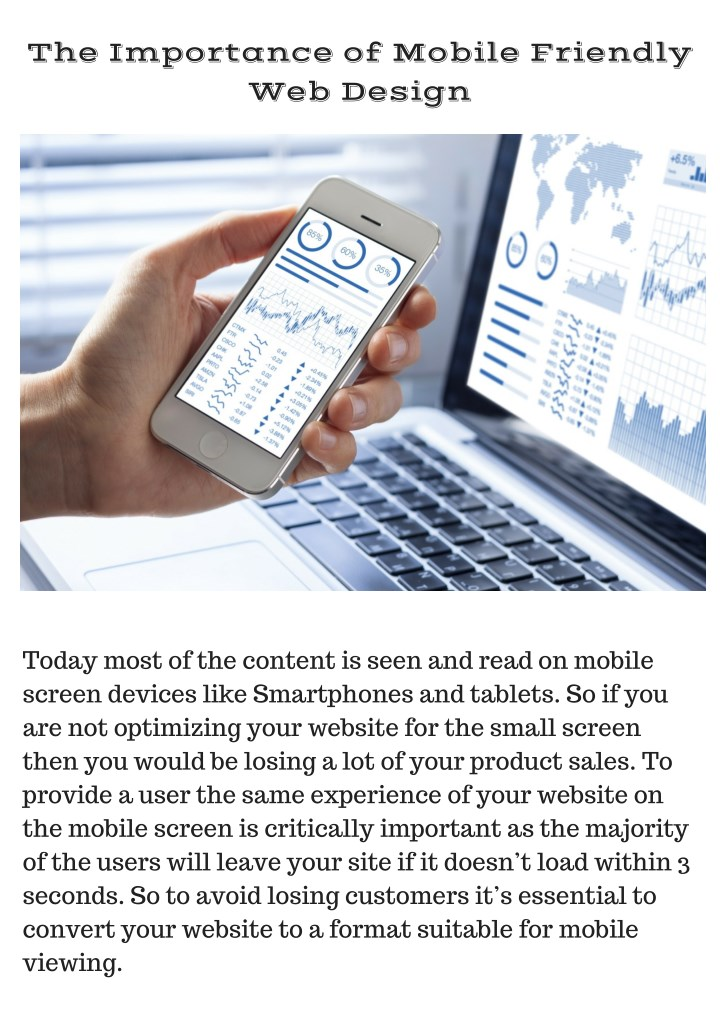 the importance of mobile friendly web design n.