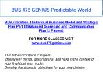bus 475 genius predictable world 18