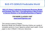 bus 475 genius predictable world 9
