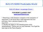 bus 475 nerd predictable world 6