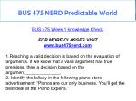 bus 475 nerd predictable world 7