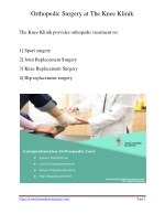 orthopedic surgery at the knee klinik 1