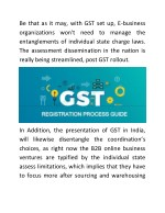 be that as it may with gst set up e business
