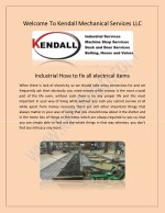 welcome to kendall mechanical services llc