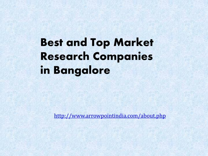 best and top market research companies n.