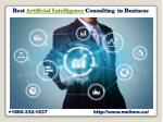 best artificial intelligence consulting