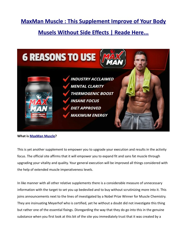 maxman muscle this supplement improve of your body n.