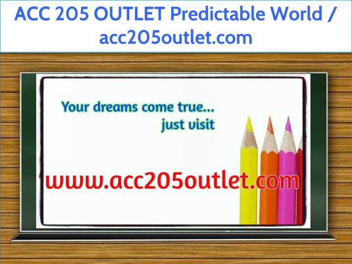 acc 205 outlet predictable world acc205outlet com n.