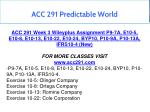 acc 291 predictable world 16