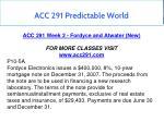 acc 291 predictable world 3