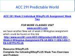 acc 291 predictable world 6