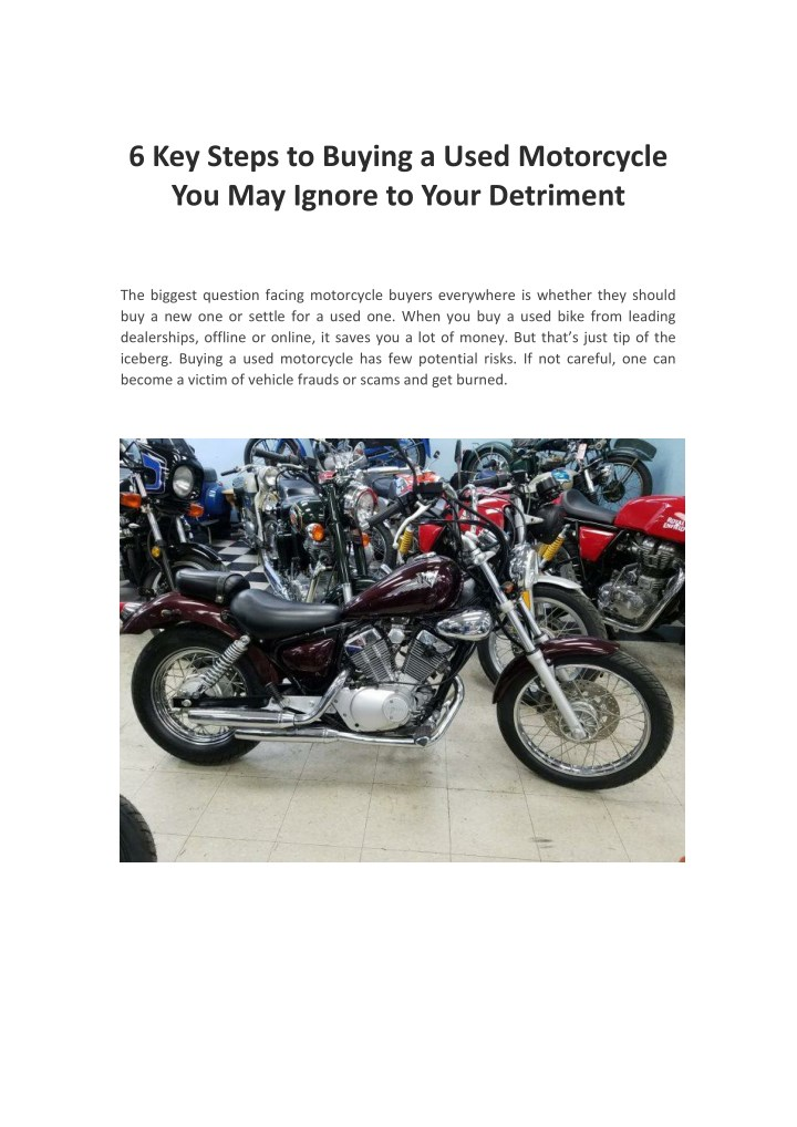 6 key steps to buying a used motorcycle n.