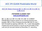 acc 291 guide predictable world 13