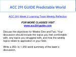 acc 291 guide predictable world 9