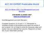acc 310 expert predictable world 11