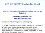 acc 310 expert predictable world 12