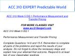 acc 310 expert predictable world 14